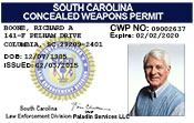 South Carolina Concealed Weapons Permit (South Carolina CWP).