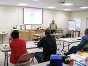 South Carolina gun classes in a clean comfortable classroom.